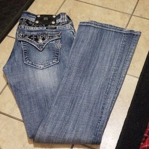 Miss Me Boot Cut Distressed Jeans